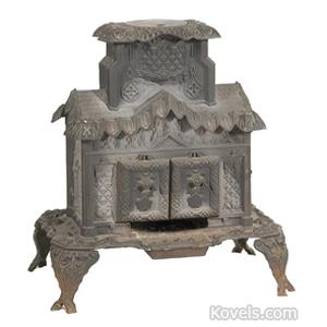 Stoves Parlor Coal House Shape Temple Stove Co Avon NY C1854