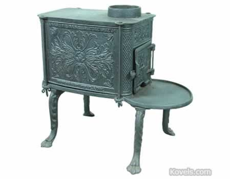 Stoves, Box, Cast Iron,Scrolled ... - Antique Stoves Technology Price Guide Antiques & Collectibles