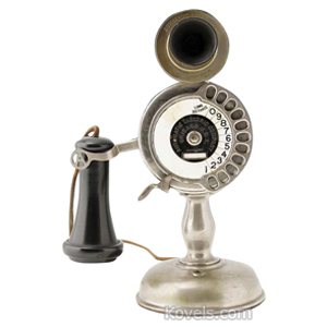 Telephone Automatic Electric Co Stick Chrome Finish Dial Chicago