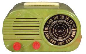 Radio Fada Model 1000 Bakelite Red Orange