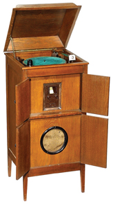 Radio Reico Model W 206 Long Medium Wave Wood Case Double Doors 5 Valves C1933