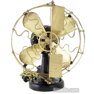 Fan Electric Westinghouse Oscillating 2 Vanes Brass