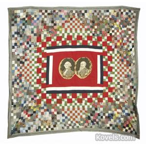 Quilt Appliqued Medallions Washington Cleveland Presidential Centennial
