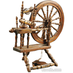 Spinning Wheels Turned Spindles 19th Century