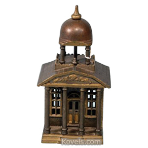 Bank Building Belfry Cast Iron Japanned Kenton M 1233 | Kovels' Price Guide