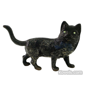 Bank Cat Standing Long Tail Cast Iron Black M 369 | Kovels' Price Guide