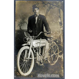 Bicycles Postcard Photo Excelsior Auto Cycle Rider c1909 | Kovels' Price Guide