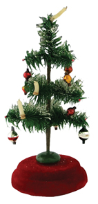 Christmas tree Feather Ornaments Candles Musical Stand Revolves Silent Night W Germany | Kovels' Price Guide