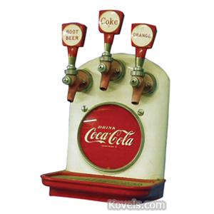 Coca-Cola Dispenser Head Counter Cornelius Metal Plastic 3 Taps   Kovels' Price Guide