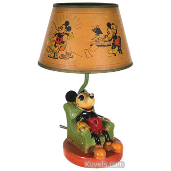 Antique disneyana toys dolls price guide antiques disneyana lamp mickey mouse aloadofball Gallery