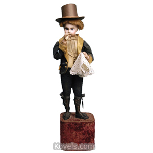 Doll Automaton Smoking Man Bisque Head Hands Leopold Lambert C1895