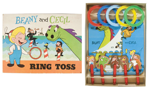 Game Beany Cecil Ring Toss Wood Characters Box Pressman Toys 1962