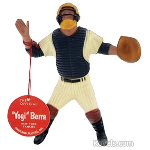 Sports Baseball Figure Yogi Berra Plastic Hartland String Tag