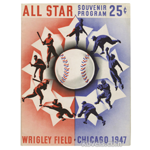 Sports Baseball Program 1947 All-Star Game Wrigley Field Chicago