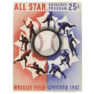 Sports Baseball Program 1947 All-Star Game Wrigley Field Chicago