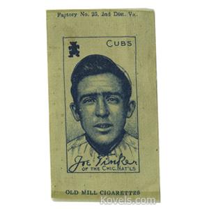 Sports Baseball Silk Joe Tinker Chicago Nationals Old Mill Cigarettes S-74 1910