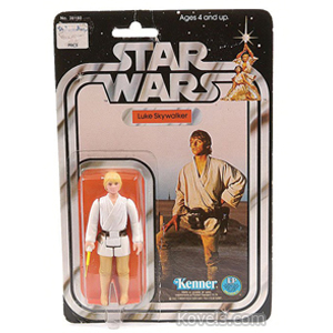 Star Wars Figure Luke Skywalker On Card Kenner 1978-79