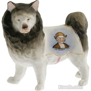 Worlds Fair Figurine 1893 Chicago Dog Porcelain